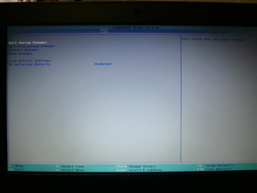 価格 com - 『InsydeH20 Setup Utilityの切替画面4』Lenovo ideapad