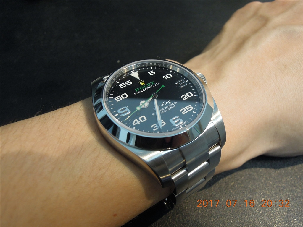 価格 Com 『装着の儀』ロレックス エアキング 116900 アラビア オイスターブレスレット ブラック