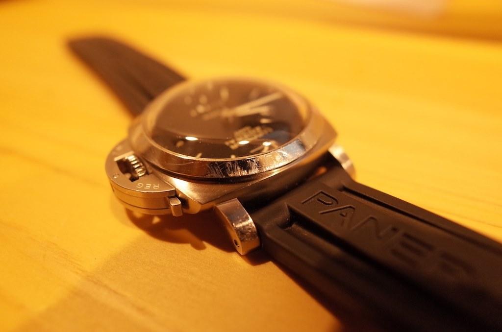 reputable site 2d3b7 a9cb6 PAM00233 1950 ルミノール 8デイズ GMT 手巻き(ブラック)